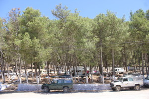 The campsite at Xaouen